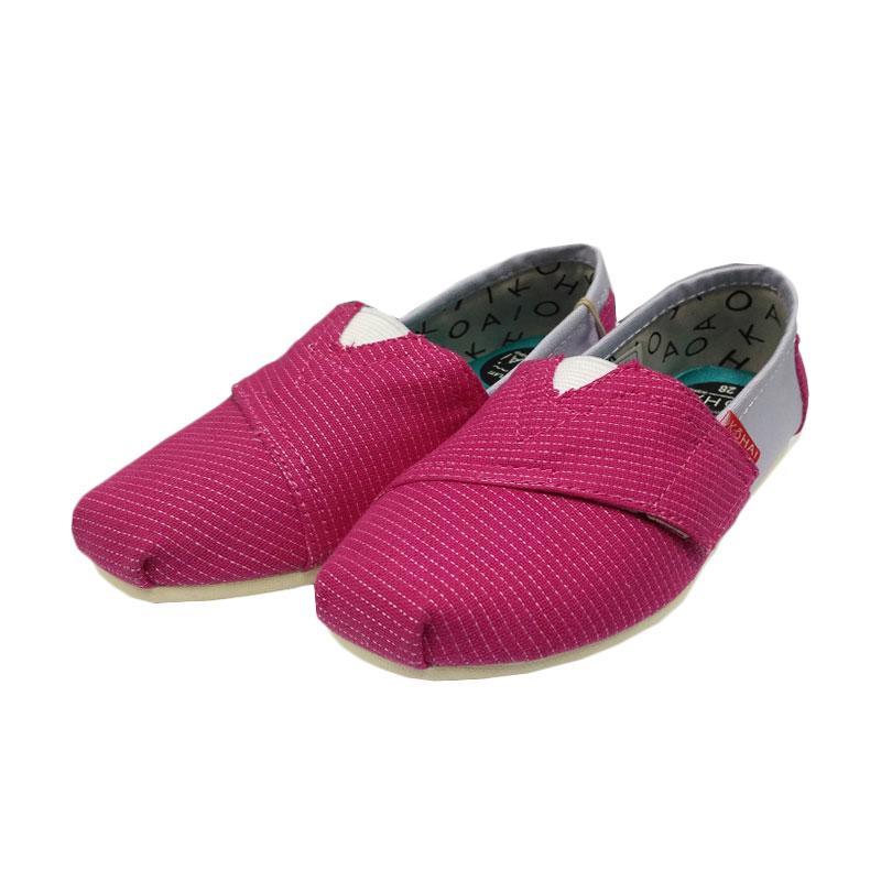 Kohai Plaid Sepatu anak - Pink Purple