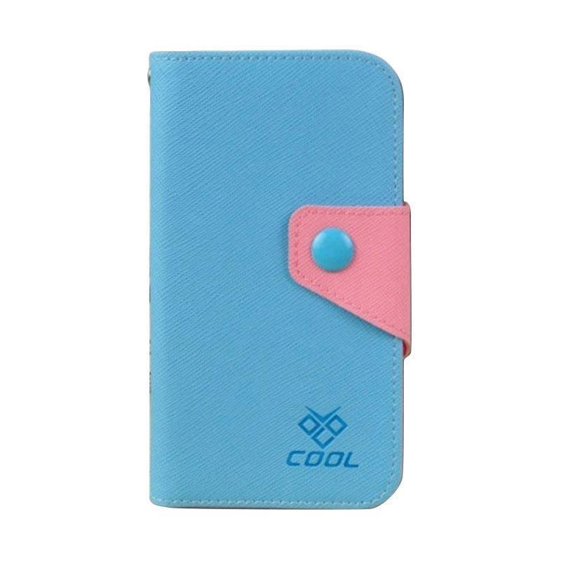 OEM Rainbow Flip Cover Casing for XiaoMi MI 4 - Biru
