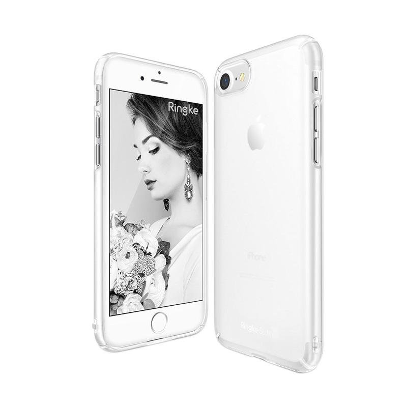 Rearth Ringke Slim Casing for iPhone 7 - Frost White