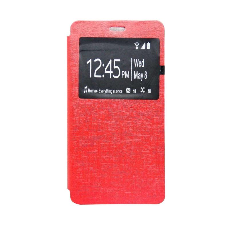 Ume Flip Cover Casing for Xiaomi Redmi 4 Prime - Merah