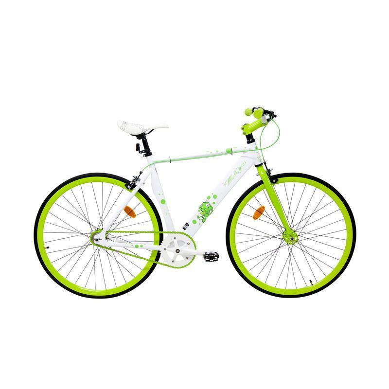 Wimcycle Fixie Alloy Sepeda Fixie - Putih [700 C]