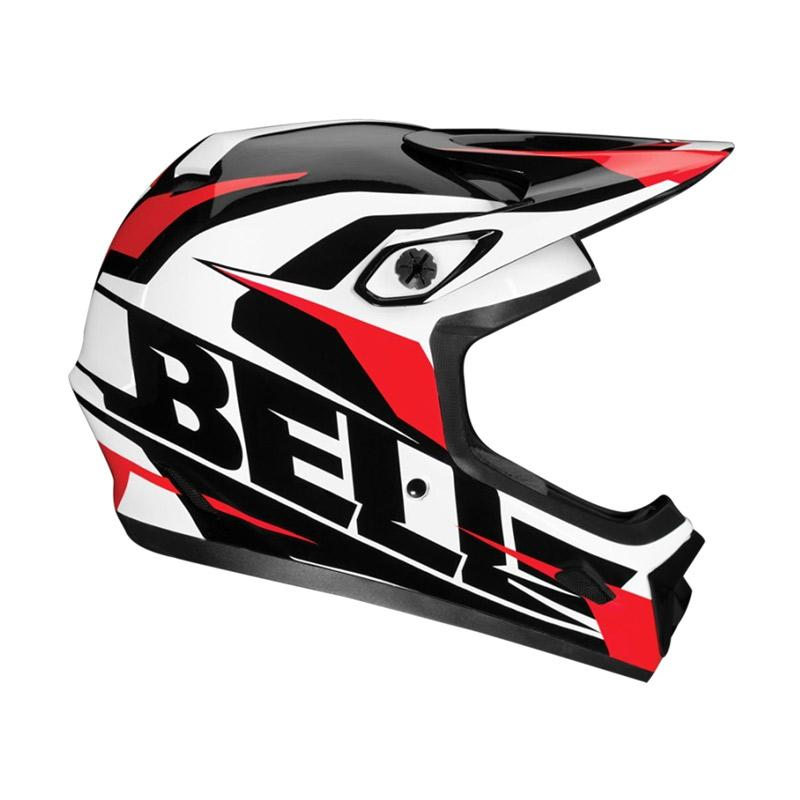 Bell Helmet BS Transfer-9 ELMT XL 14 US Helm Sepeda - Black White Red 7040710