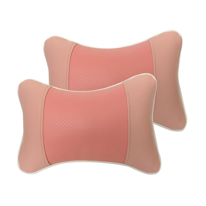 GL Motif Bintik Kulit Sintetik Bantal Mobil - Pink