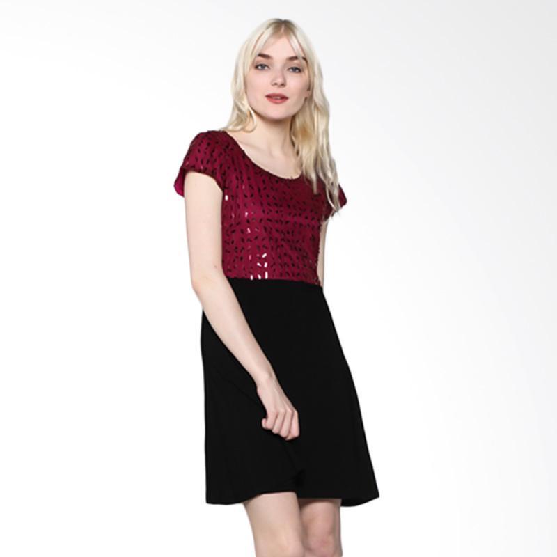 harga Nulu Cilla NL 786 Dress Wanita - Maron Blink-Blink Blibli.com