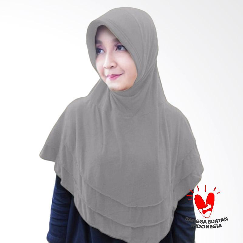 Milyarda Hijab Bergo Plat Kerudung Instant - Grey