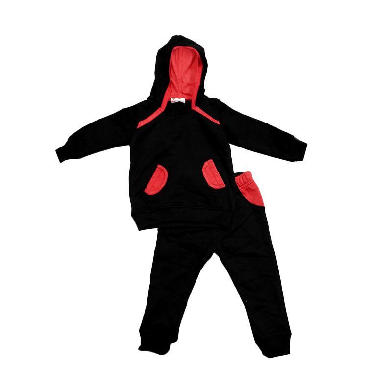 Tiny Button Toddler Boy Jacket Setelan Anak - Black
