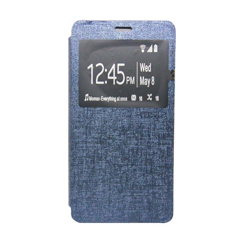UME Flip Cover Casing for Asus Zenfone 3 5.5 inch ZE552KL - Biru