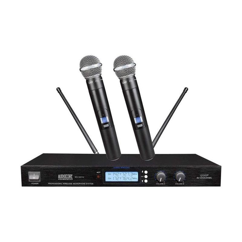 harga Audiocore WH-3221U Wireless Microphone Set Blibli.com