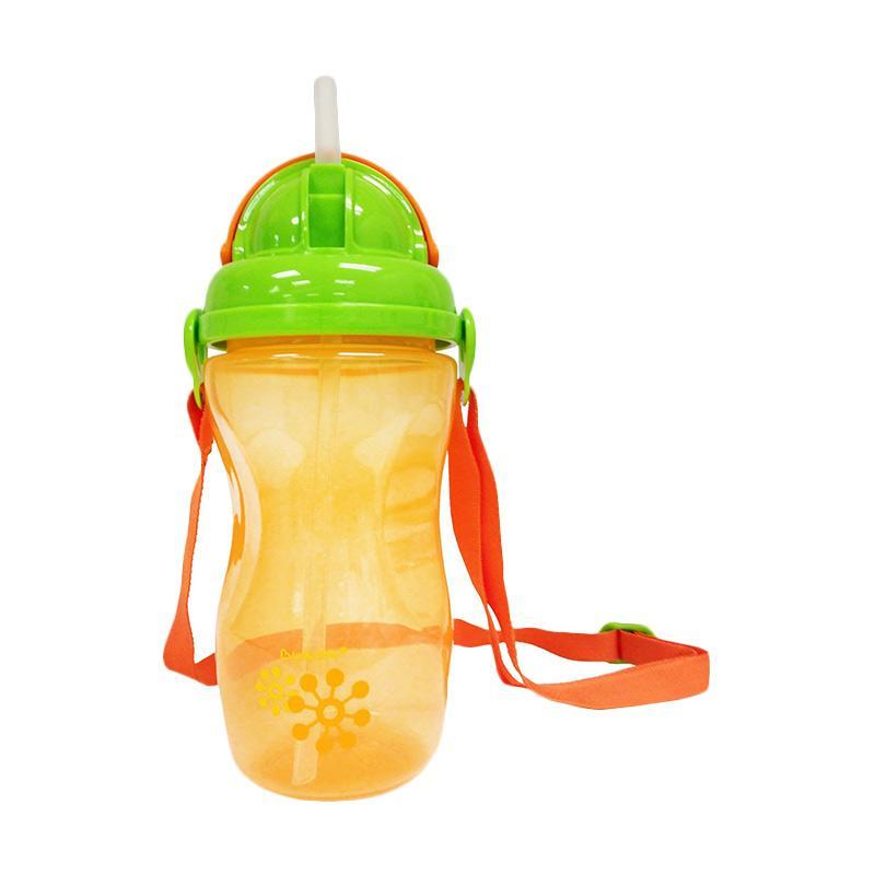 Lucky Baby Tawlee Straw Bottle - Orange [9 bulan ke atas]