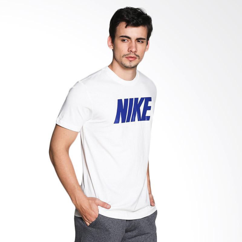 harga Nike AS Nike Tee-Hybrid Kaos Olahraga Pria - White 584836-101 Blibli.com