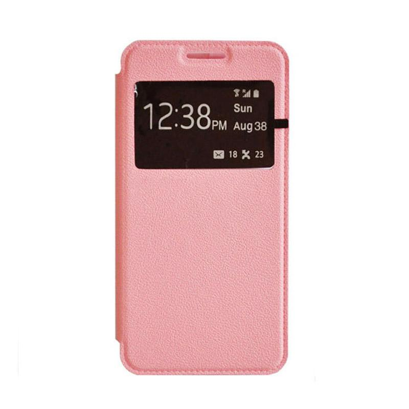 OEM Leather Book Cover Casing for Xiaomi Mi4i - Pink