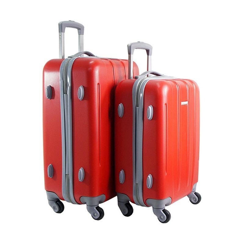 Polo Twin HD 1612 Troley Bag Set - Red [18 dan 22 Inch]