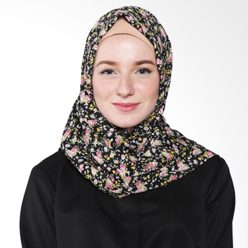 Rauza Rauza Blossom Shawl Hijab - Hitam