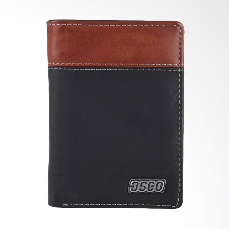3SECOND Striped Twotone Wallet Dompet Pria - Black 117041718