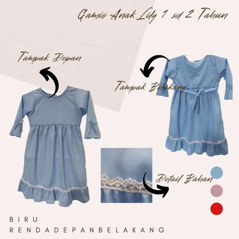 Jual Gamis Anak Perempuan Lily 1 2 Tahun Gamis Bayi Murah Lucu Baju Muslim Anak Perempuan Balita Online Februari 2021 Blibli