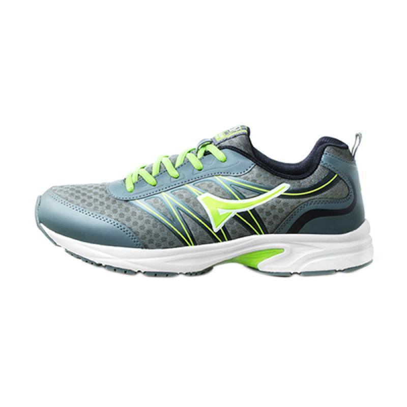 Ardiles Women Greaves Sepatu Lari Wanita - Grey Green bawah