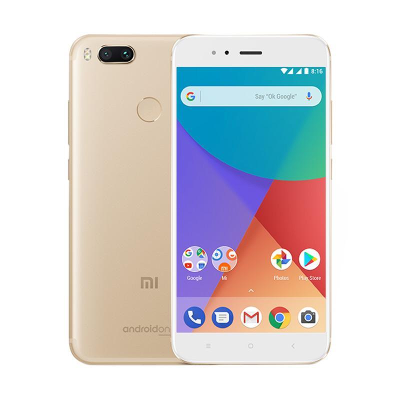 Xiaomi Mi A1 Smartphone - Gold [64GB/4GB] GARANSI RESMI TAM