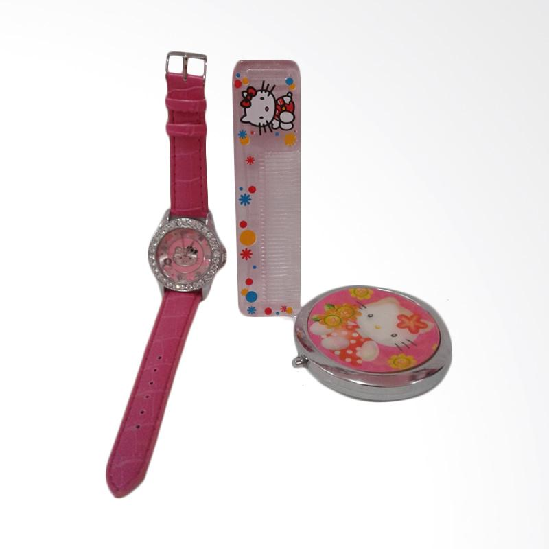 Hello Kitty HK-005 Paket Dandan Jam Tangan Wanita - Multicolor