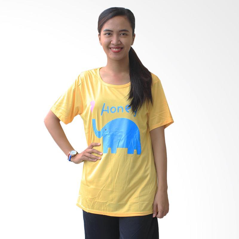 Aily 02 Setelan Baju Tidur Wanita Celana Pendek - Kuning