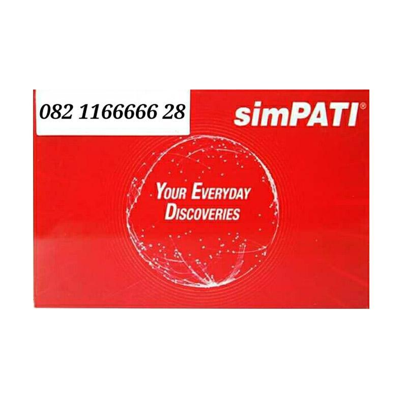 Telkomsel Simpati Nomor Cantik 082 1166666 28 Kartu Perdana [4G]