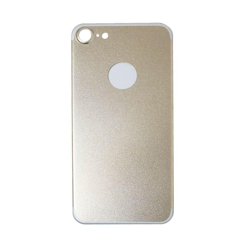 QCF Tempered Glass Aluminium Alloy Back Protector (Belakang Saja) for iPhone 7 / iPhone7 / Iphone 7G Ukuran 4.7 Inch Pelindung Belakang - Gold