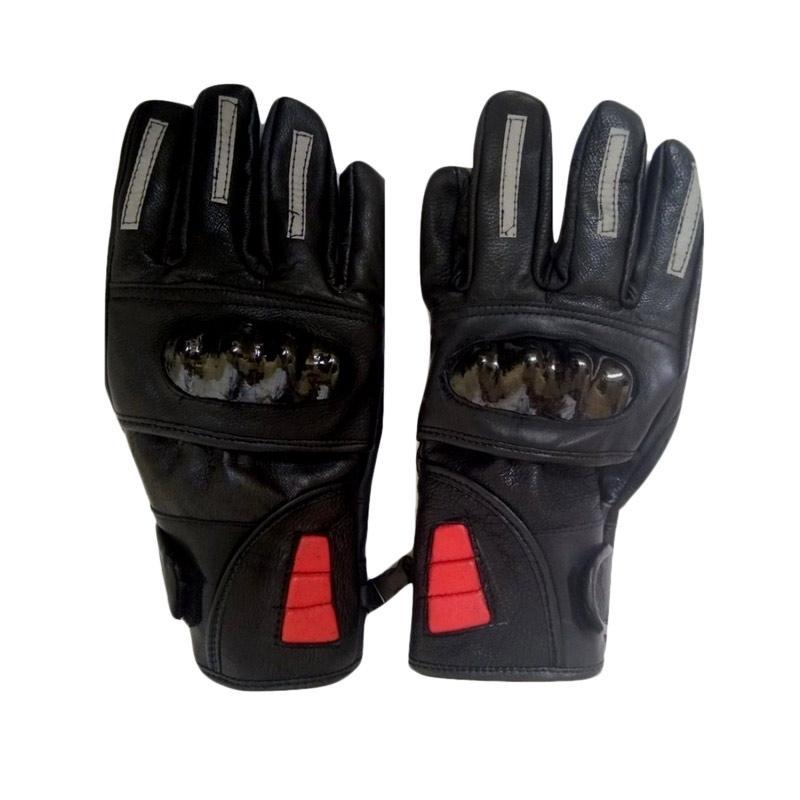 dm79 Kulit Asli Batok Sarung Tangan Full Finger - Black
