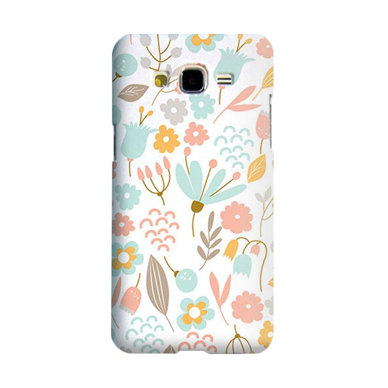 Premiumcaseid Cute Pastel Shabby Chic Floral Hardcase Casing for Samsung Galaxy Core 2