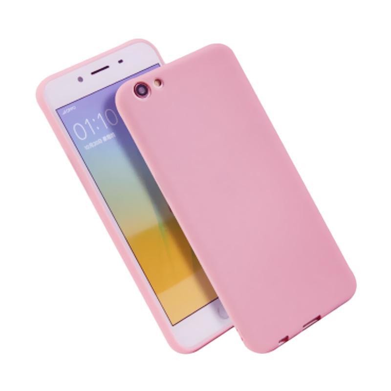 Lize Design Slim Anti Glare Silikon Casing for VIVO Y53 2017 - Pink