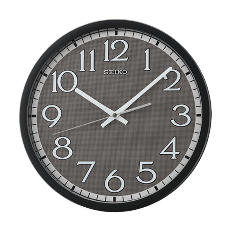 Spek Harga Seiko QXA711K Quiet Sweep Wall Clock Jam Dinding - Black  31 cm  19019107ac