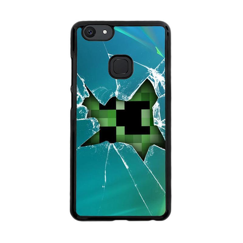 Flazzstore Minecraft Creeper Broken Glasses F0519 Custom Casing for Vivo V7