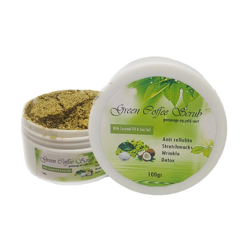 harga MY Green Coffee Scrub with Virgin Coconut Oil Sea Salt Blibli.com