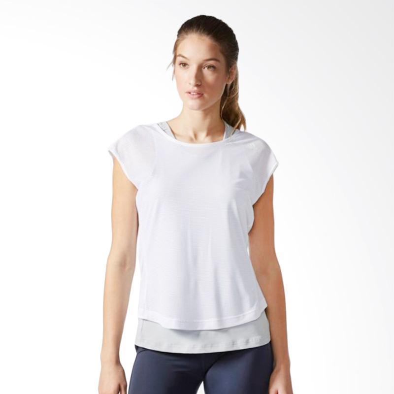 adidas TKO Short Sleeve 2 Layer Women T-Shirt - Silver White [B28277]