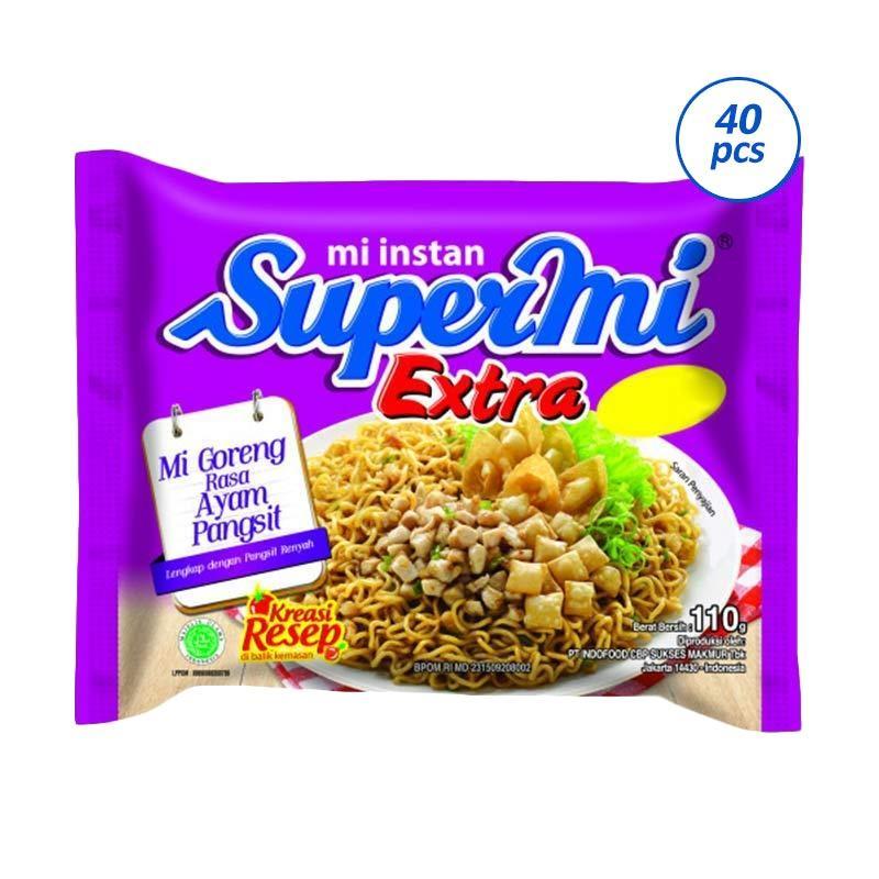 Supermi Extra Goreng Ayam Pangsit Mie Instan [110 g/40 pcs]