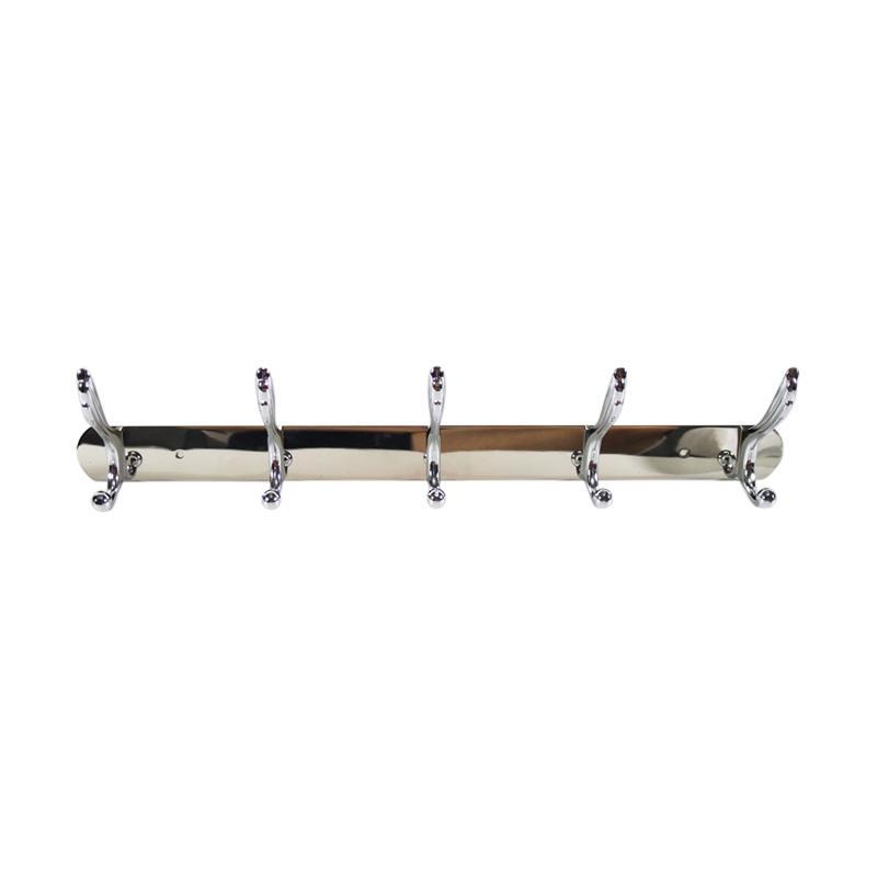 Best Seller Model Sayap 5 Kait Stainless Capstok Hanger Gantungan Baju - Steel
