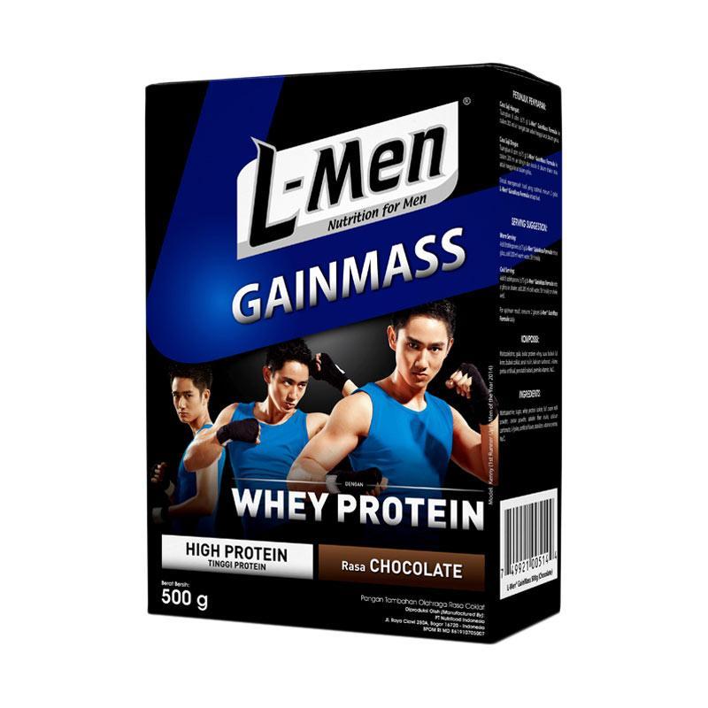 harga L-Men Gain Mass Chocolate Minuman Kesehatan [500 g] Blibli.com