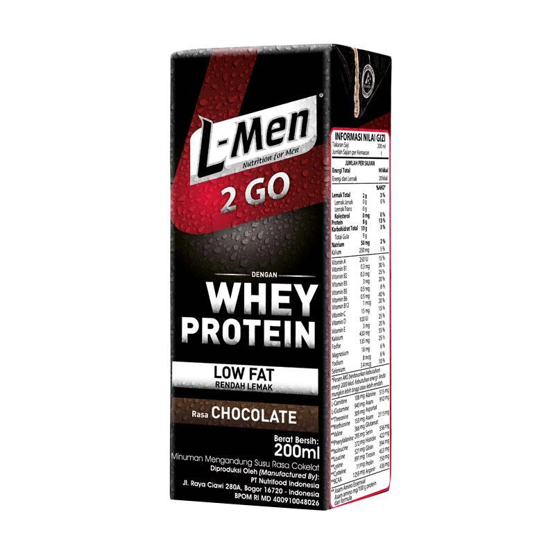 harga L-men Hi Protein 2 Go Minuman Kesehatan [24 Tetrapack] Blibli.com