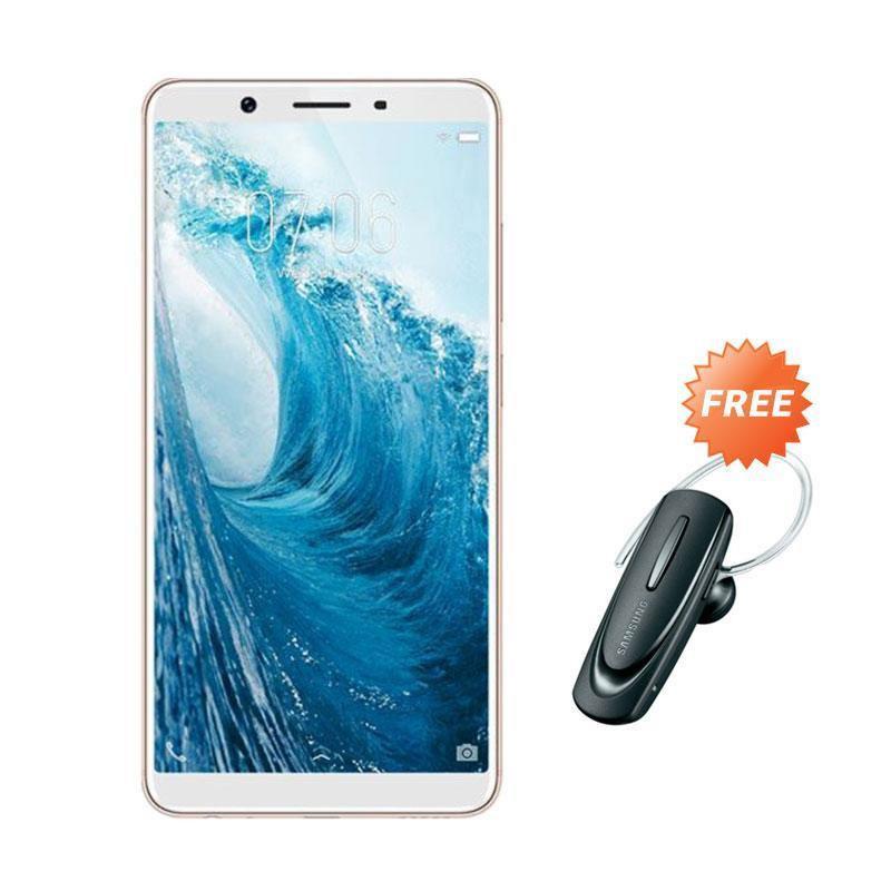 harga VIVO Y71 Smartphone - Gold [16GB/ 2GB] + Free Headset Bluetooth Blibli.com