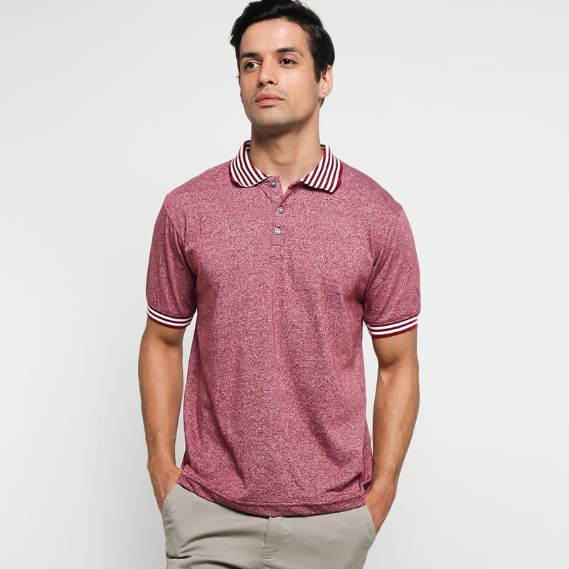 9 to 12 Ariko Polo Shirt Pria Maroon
