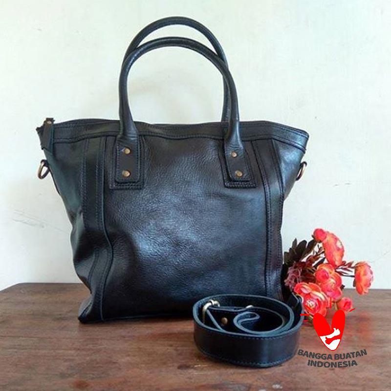 Saheka Leather Tote Bag Wanita
