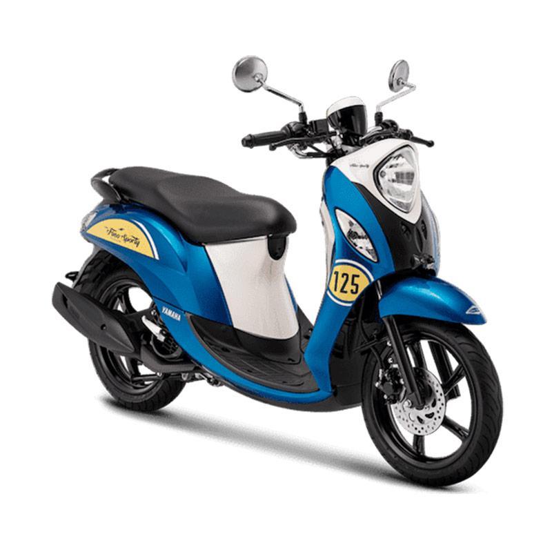 Yamaha New Fino Sporty 125 Blue Core Sepeda Motor [OTR Jabodetabekser / DP 5.455.000]