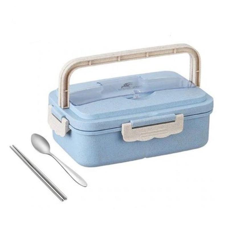 Kotak Tempat Makan Lunch Box BPA Free Biru Stainless