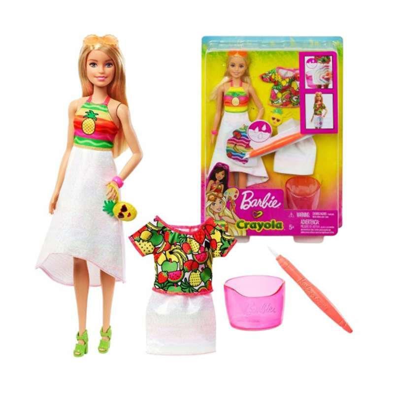 Jual Barbie Crayola Rainbow Mainan Boneka Anak Gbk18 Original Online November 2020 Blibli Com