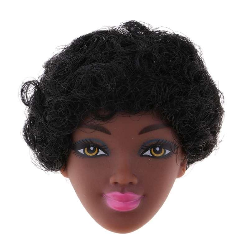 Jual Oem Handmade 1 6 Female Doll Head With Short Curly Hair For Kids Diy Girl Toys Online November 2020 Blibli