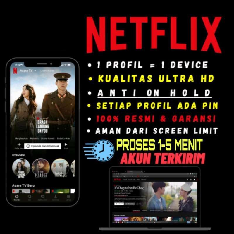 RESMI Netflix Premium Paket Streaming 1 Bulan UHD 4K INDO