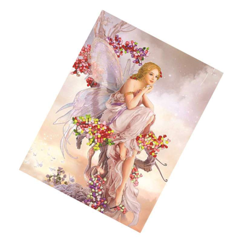 Jual Diy Ribbon Embroidery Kits Handmade Angel Pattern Home Decor Wall Art Craft Online Oktober 2020 Blibli Com