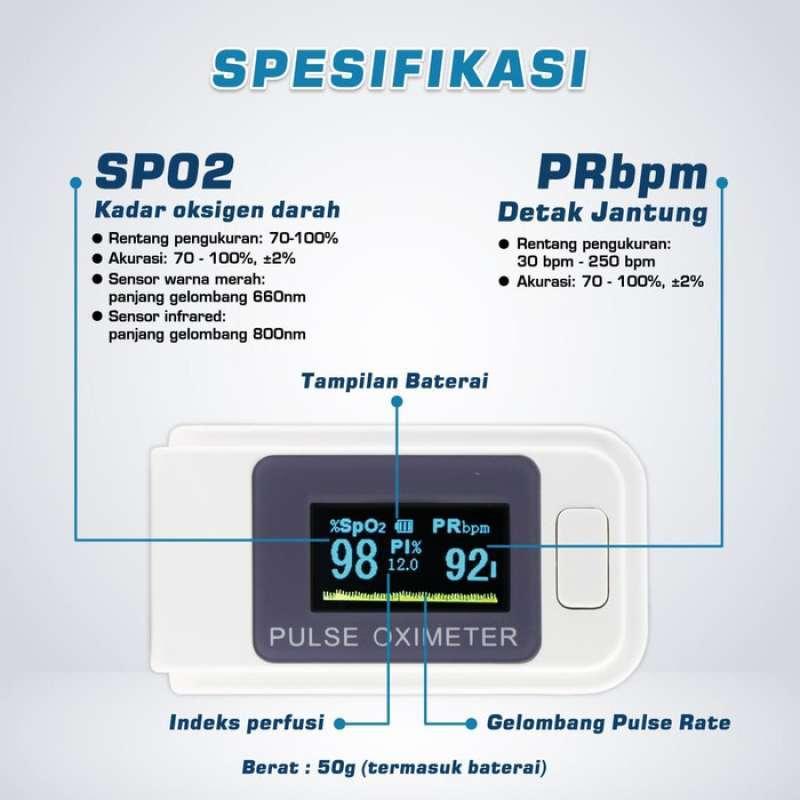 Jual Oximeter Oxymeter Fingertip Pulse Ukur Heartrate Kadar Oksigen Darah Online April 2021 Blibli