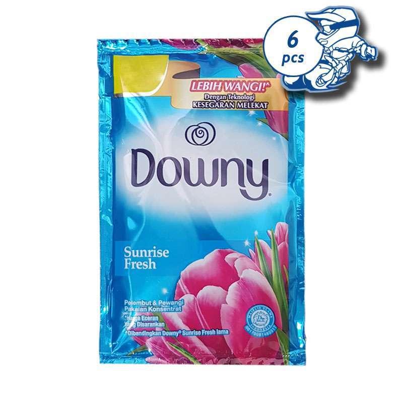 Jual Downy Sunrise Fresh 22 Ml X 6 Sachet 1 Renteng Biru Pelembut Pewangi Pakaian Online Februari 2021 Blibli