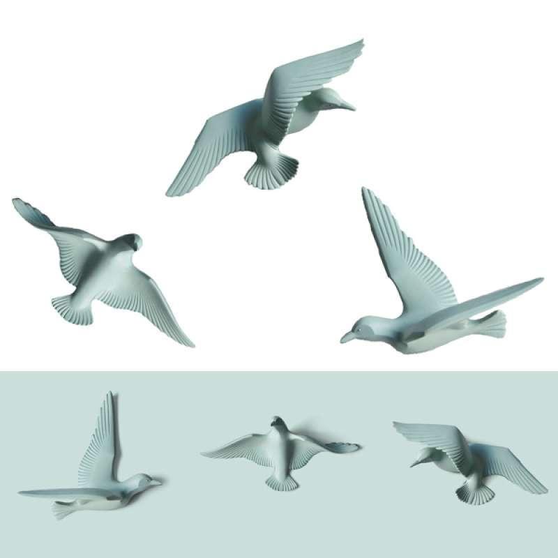 Jual 3pcs 3d Resin Seagull Flying Bird Ornament Handmade Wall Art Sculpture Green Online Desember 2020 Blibli