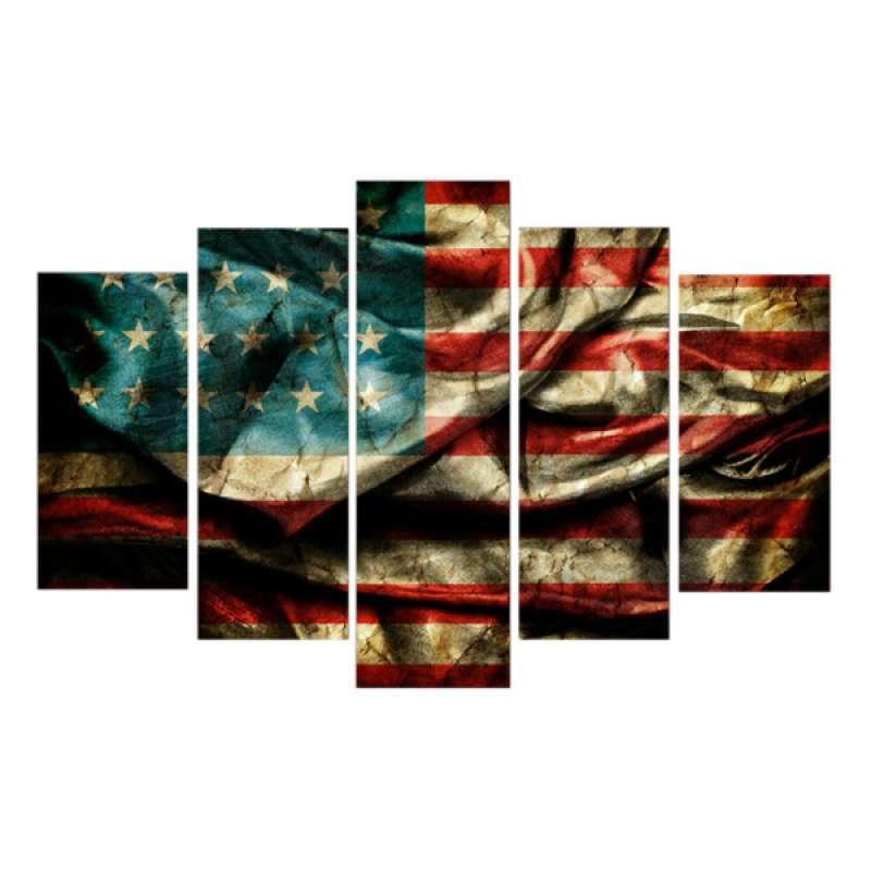 Jual Modern Canvas Prints Artwork Painting Picture Wall Art Decor American Flag S Online Desember 2020 Blibli