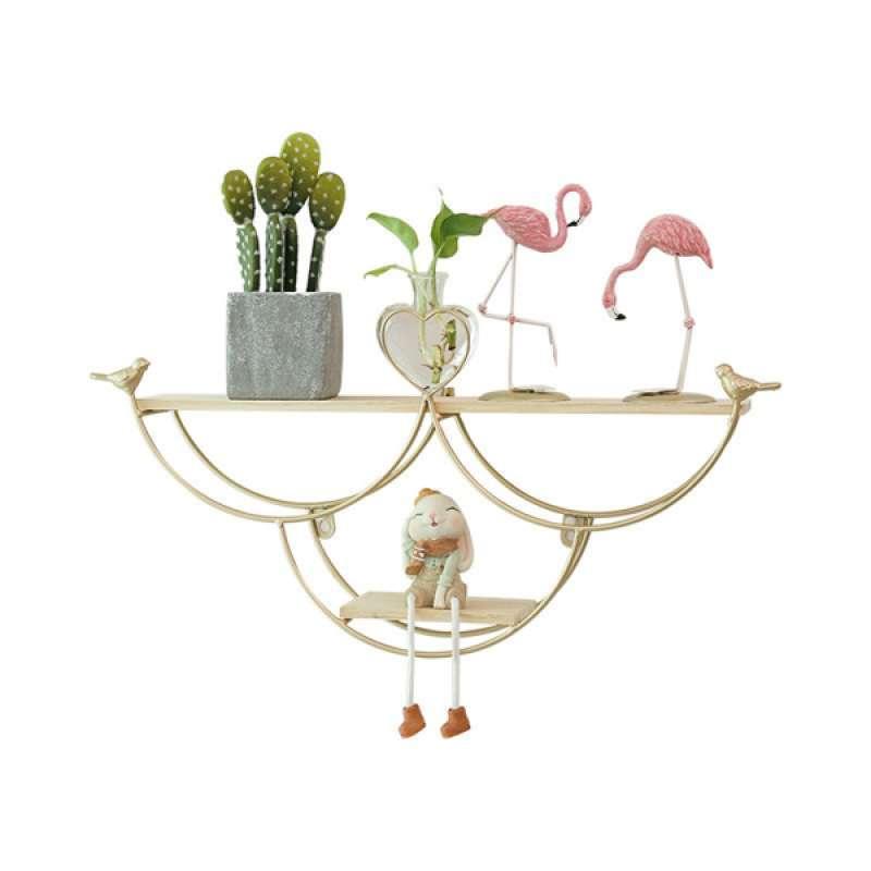 Jual Decorative Wall Shelf Flower Rack Metal Wall Planter Flowerpot Holder Online Oktober 2020 Blibli Com